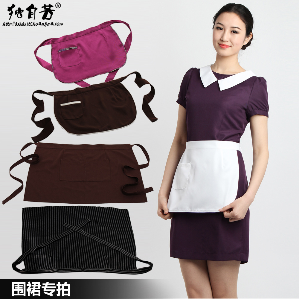 restaurant waiter aprons cafe waitress apron little chef aprons serving Apron for Women Free Shipping(China (Mainland))