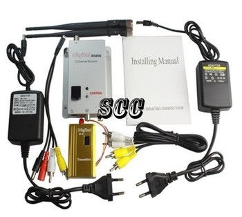 1500mW  8CH Wireless AV Transmitter and   Receiver, Audio/Video Output