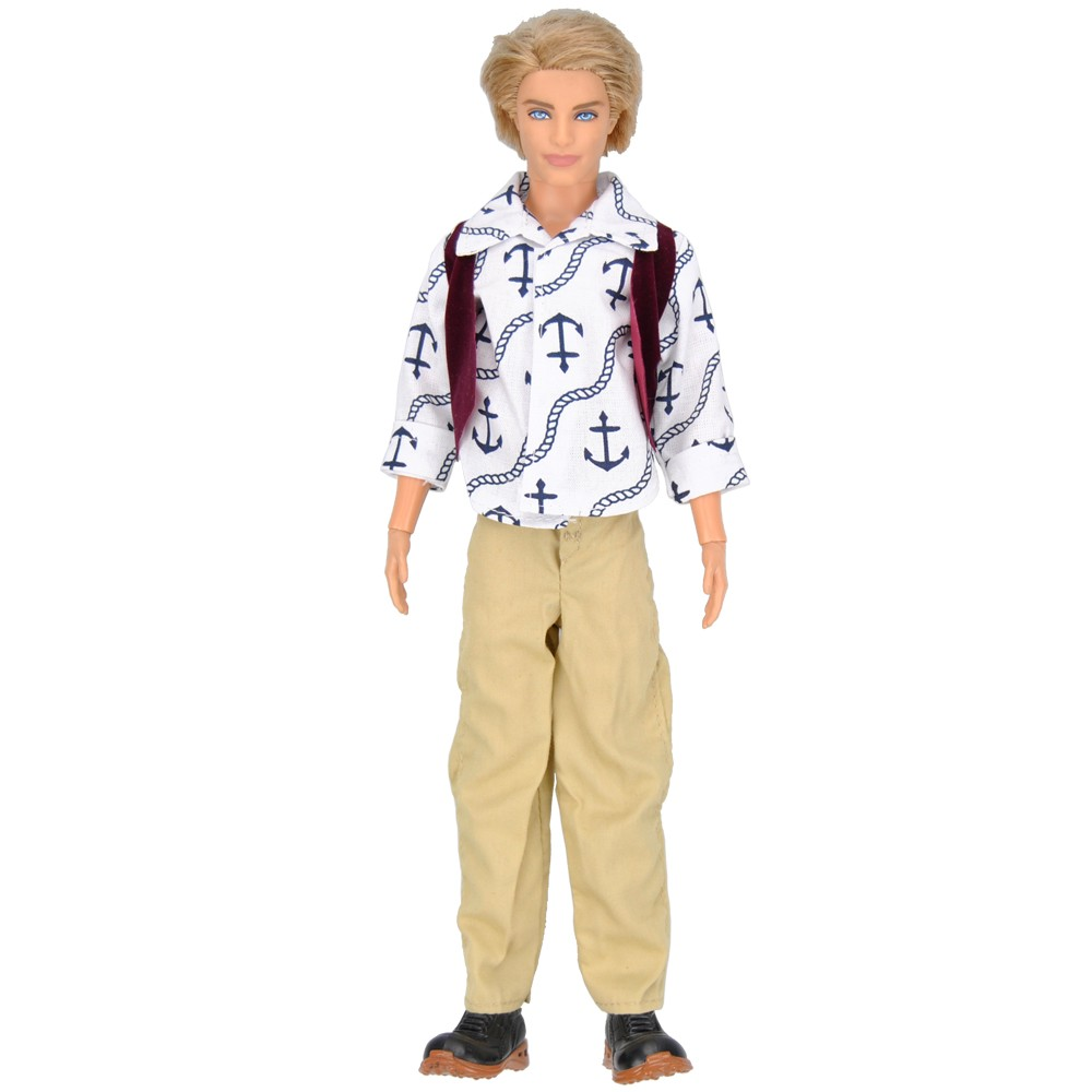 E-TING three Units Handmade Informal Garments and Trousers Outfits For Barbie Ken Prince Doll Buddy's Youngsters's Present