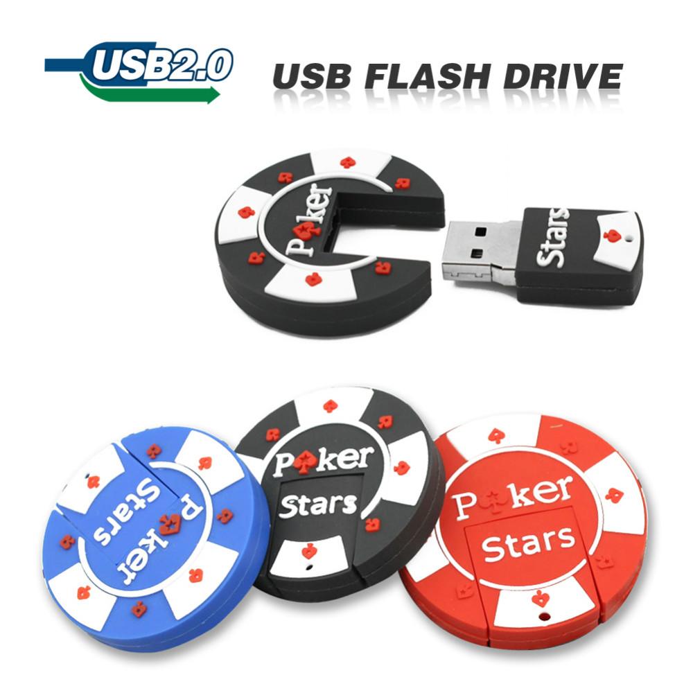 2GB 4GB 8GB 16GB 32GB 64GB cartoon rubber Poker Stars pokerstars USB flash pen drive cute free shipping(China (Mainland))