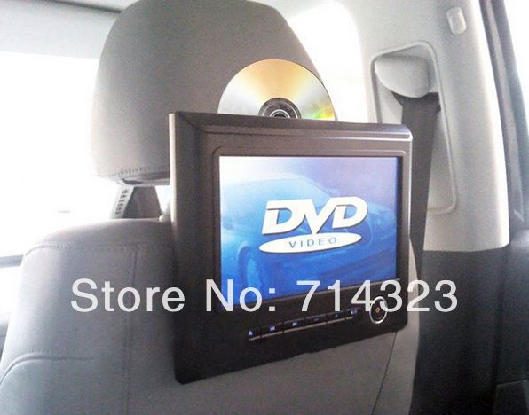 9 inch high definition Car Headrest DVD Player with digital screen,support 720P Video playing/32 Bit games /8G SD card(China (Mainland))