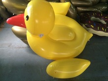 Bali Island Holiday 1.5m Yellow Duck Ride-On Inflatable Raft Water Play Summer Toy Kiddie Pool Float Toys Ride Air Mat Life Buoy(China (Mainland))