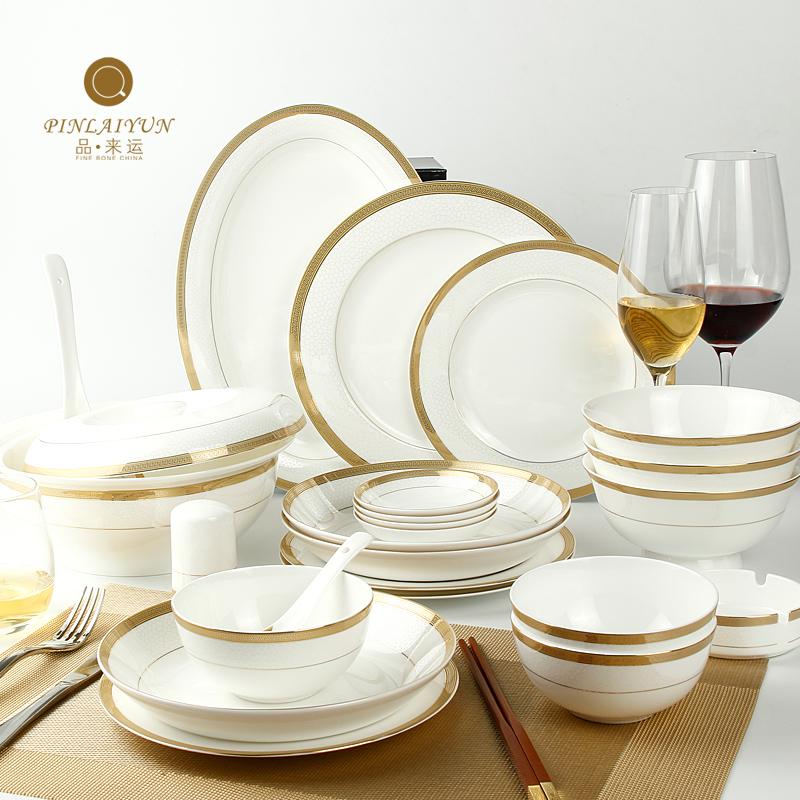 Bone china dinnerware set quality household dishes set ceramic dishes(China (Mainland))