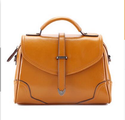 lady hangbag 2015newest usa genuine pure leather shoulder bag trapeze bag diagonal cross flip bag retro styling messenger bag(China (Mainland))