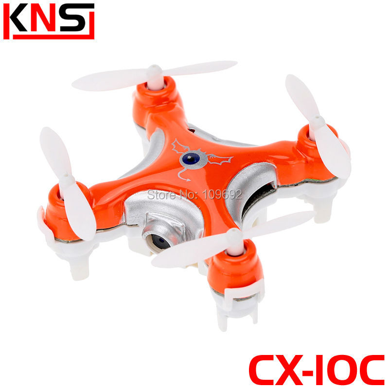 Free Shipping Cheerson Quadcopter CX-10C CX10C Mini RC Drone 6-Axis 2.4G 4CH With HD 0.3MP Camera Updated Version Helicopter Toy(China (Mainland))