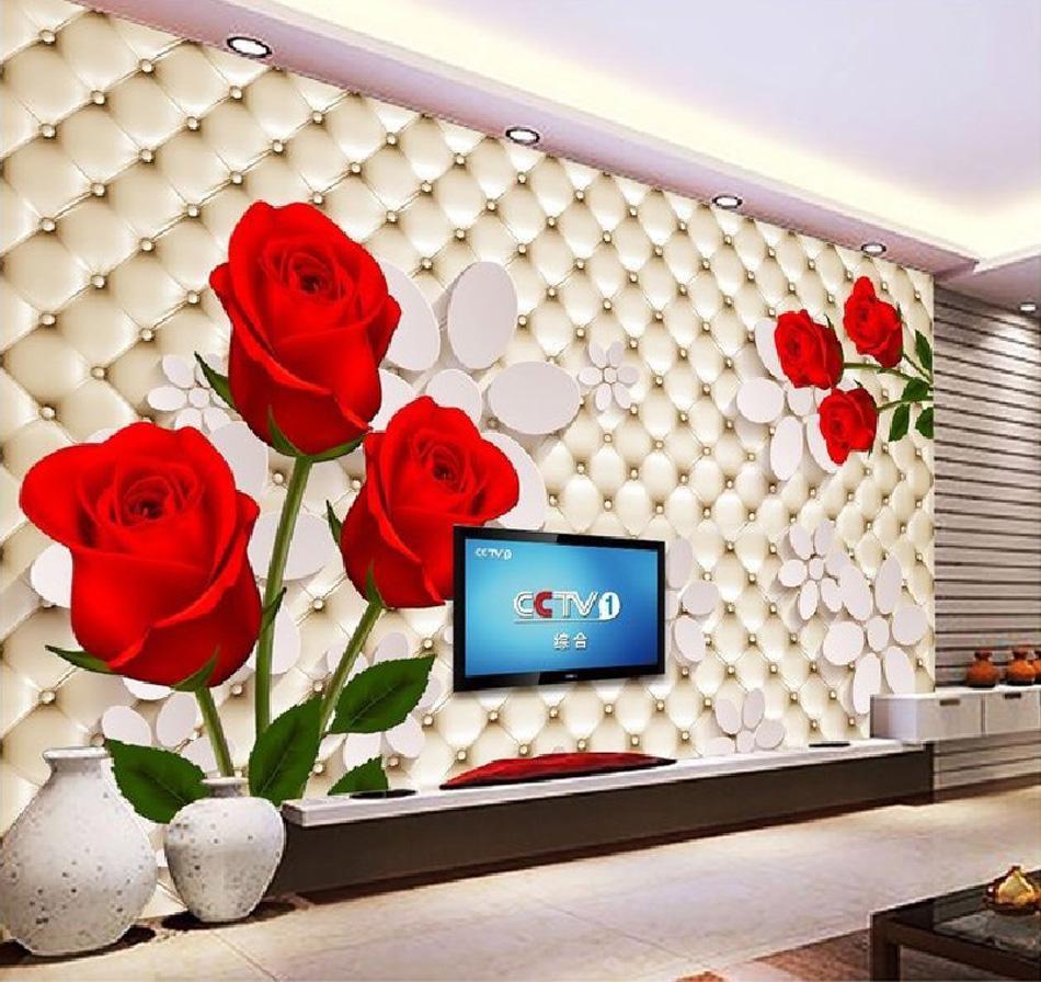 Online kopen wholesale rode woonkamer muur uit china rode ...