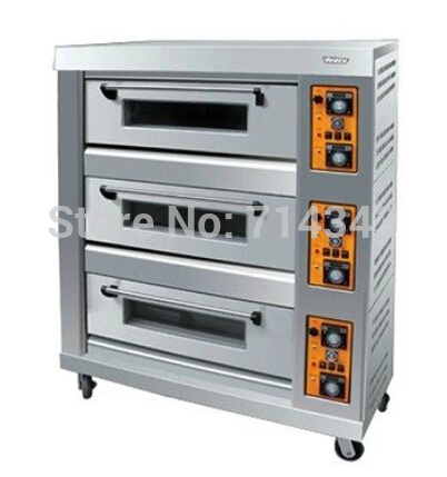 3 Layer 6 pans commercial gas oven, gas bread oven, commercial gas bread baking oven<br><br>Aliexpress