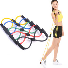 1pcs 8 Shaped Elastic Tension Durable Rope Chest Expander Yoga Pilates Sport Fitness Belt Body Shape