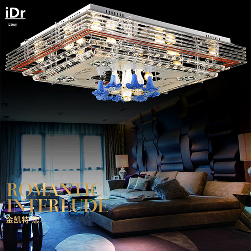Rectangle led crystal ceiling lights living room modern Upscale atmosphere flat-panel low-voltage led lamps lighting(China (Mainland))