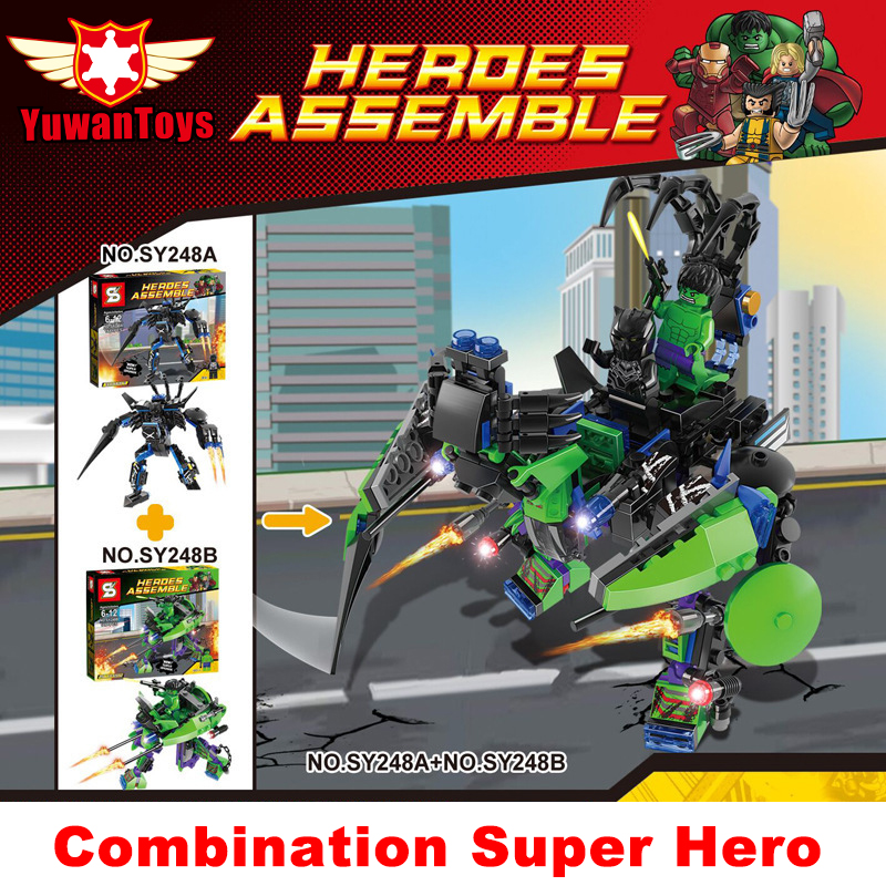 2pcs/lot Combination Minifigure Building Blocks League Surper Hero ABS Healthy Material With Legoed Blocks Toy For Kids SY248(China (Mainland))