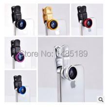 2014 Hot Universal Clip 3 in 1 Fish Eye Wide Angle Macro Fisheye Mobile Phone Lens For iPhone 6 5 5S 4 4S Samsung HTC Nokia(China (Mainland))