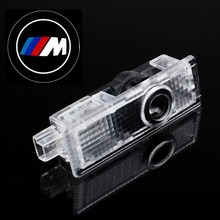 1 Pair LED Car Door Courtesy Laser Projector Logo Ghost Shadow Light for BMW M Power 1 Piece(China (Mainland))