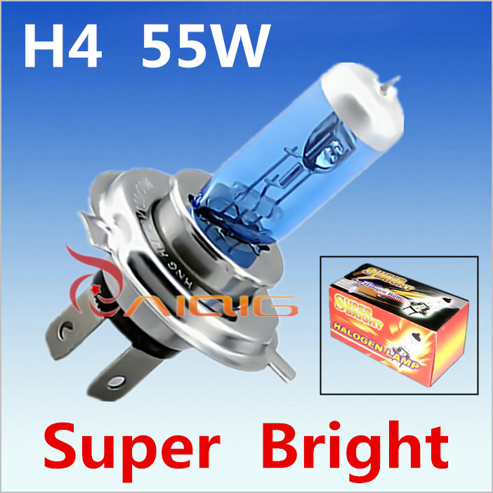 H4 55W 12V Super White Fog Lights Halogen Bulb High Power Car Headlight Lamp Light Source parking Head auto 6000K - Guang Zhou Ming Zhi Technology co., LTD store