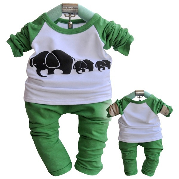 cute elephants baby boys sports outfits tracksuit baby