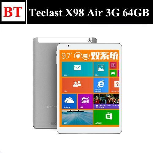 Планшетные ПК 64 ГБ ПЗУ 2 ГБ ОЗУ gps 3g телефону ips оригинальный teclast x 98 воздуха 3g двойной загрузки intel Бей тропа t четырехъядерных 9,7
