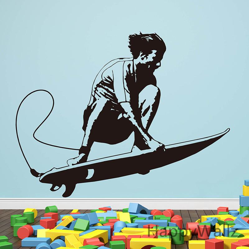 surfing wall sticker baby nursery surfing wall decal diy wall decals surfer walltat com art without boundaries