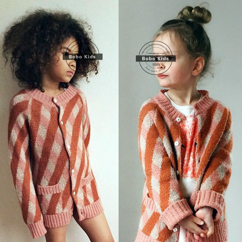 BBK bobo choses Childrens Clothing hot style autumn striped ling, female baby cotton sweater knitting cardigan coat<br><br>Aliexpress