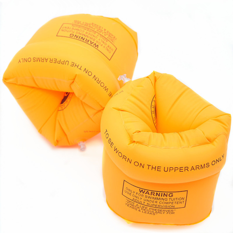 1 Pair Adult / Child Yellow Thicken PVC Swimming Arm Ring Floating Rings Kids Inflatable Life Air Sleeves Swim Accessories(China (Mainland))