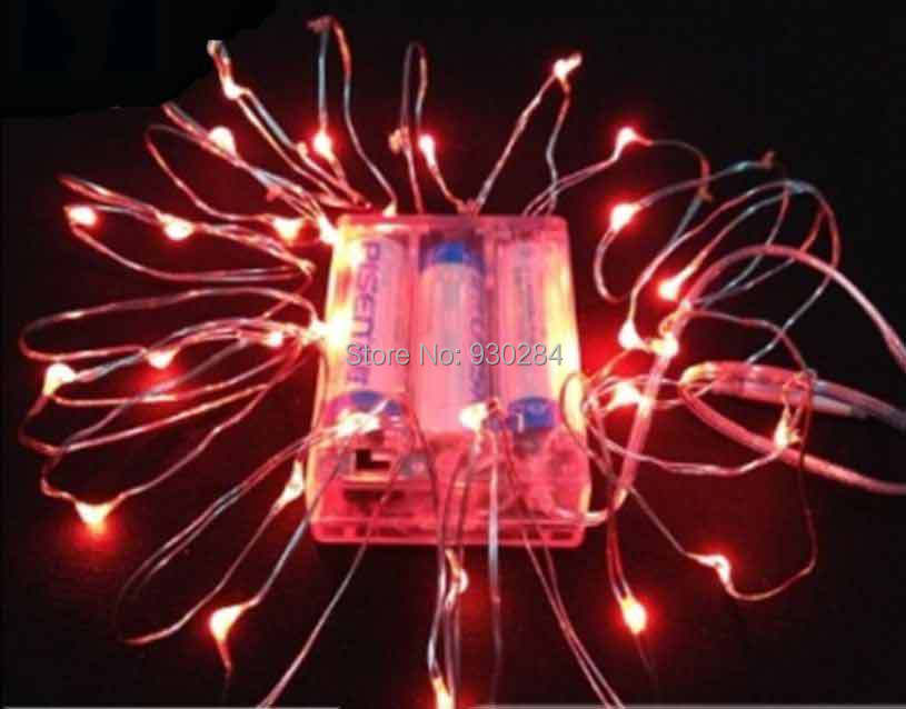 2M Silver Wire RGB AA battery Holiday Christmas party LED String Fairy Lights for decoration ...