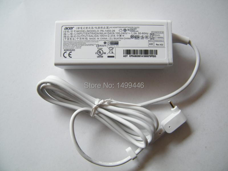 Original OEM 19V 2.37A 45W Ultrabook PC AC Adapter Charger White For Acer S7 391 392 9890 PA-1450-26/79 Ultrabook<br><br>Aliexpress