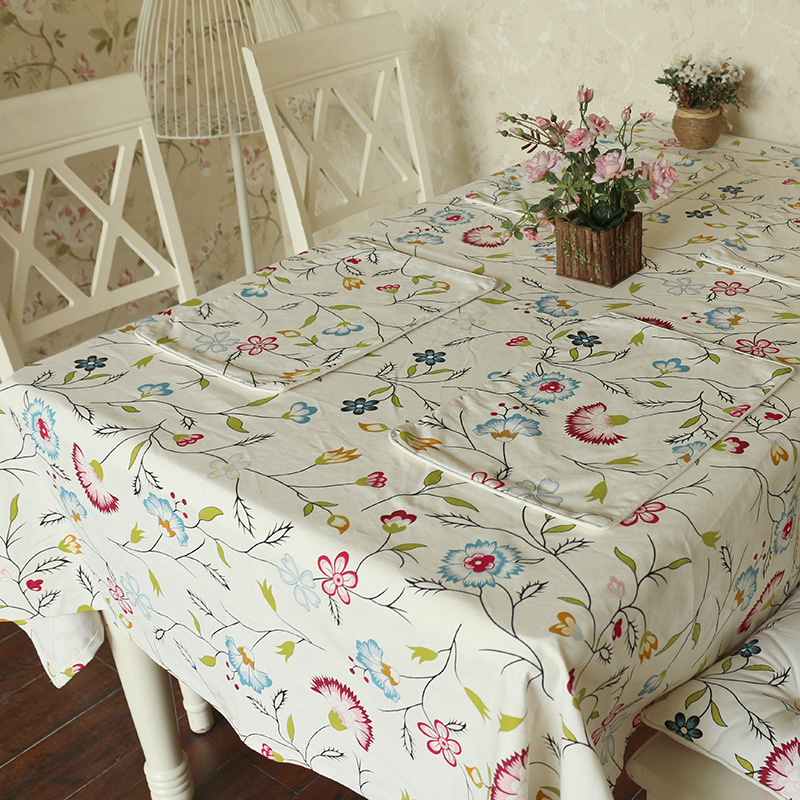New deals pastoral style high-grade cotton printed table table runner wholesale fashion custom color table flag(China (Mainland))