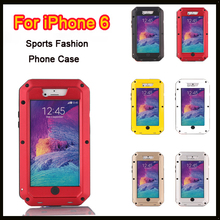 Heavy Duty Metal alloy Case For Apple iPhone 6 6s 4.7 inch Weather/Dirt/Shock Proof Phone Bag For iPhone6 6s with Gorilla Glass