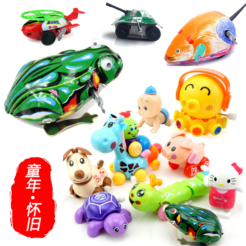 Baby classic metal frog vintage nostalgic wind up toys chain child toy 1 - 3 years old children toy animals toy puzzle(China (Mainland))