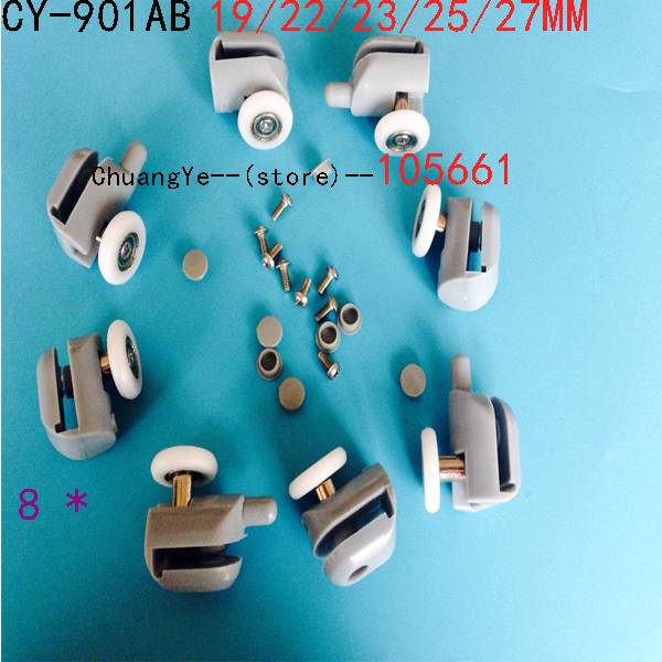 8x Shower Door Rollers/Runners/Wheels Replacement CY-901AB4top +4bottom(China (Mainland))