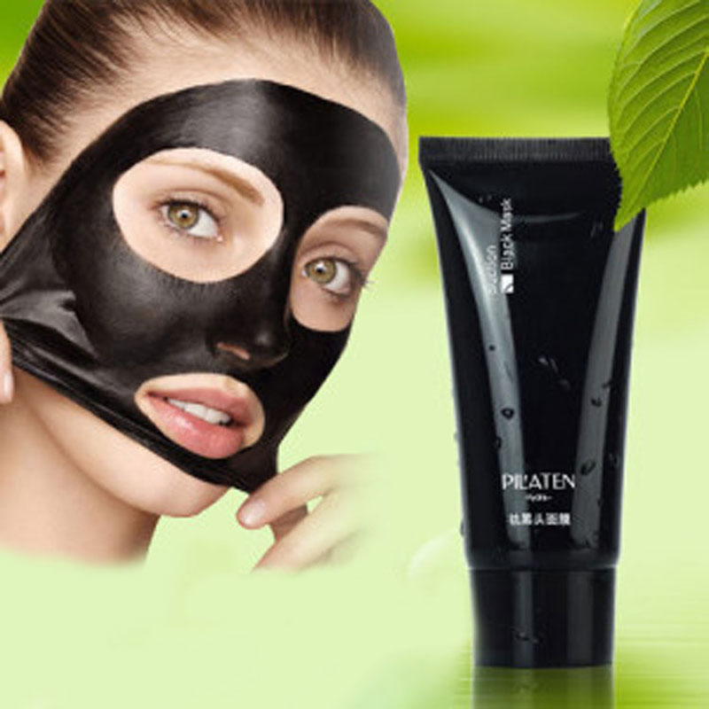 5pieces Black  PILATEN  face mask Tearing style Deep Cleansing blackheads Acne eliminating anti-strawberry nose black mud masks<br><br>Aliexpress