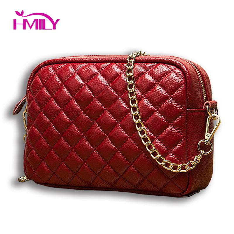 Fashion women messenger bag first layer cowhide Shoulder Crossbody Bag ladies Handbag embossing genuine leather casual