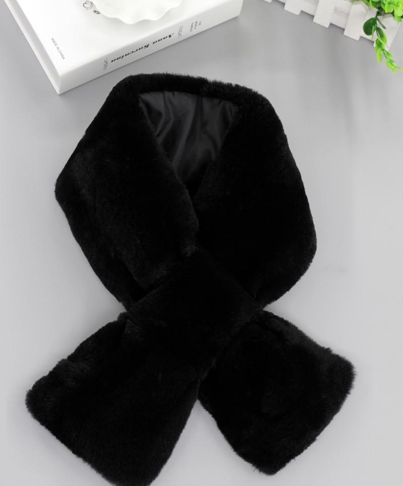2016 Brand New Women's Winter Genuine Real Rex Rabbit Fur Scarf Scarves Wraps