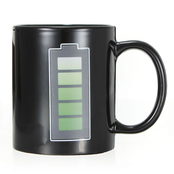 Magic Mug Color Changing Cups Porcelain Battery Coffee Heat Hot Cold Temperature Sensitive Reactive Cup Christmas NEW Gift(China (Mainland))