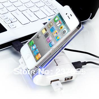 New Folding Sticky USB Hubs Mobile Phone Holder