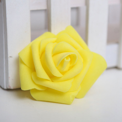 Boutique 100PCS Foam Rose Flower Bud Wedding Party Decorations Artificial Flower Diy Craft Yellow(China (Mainland))