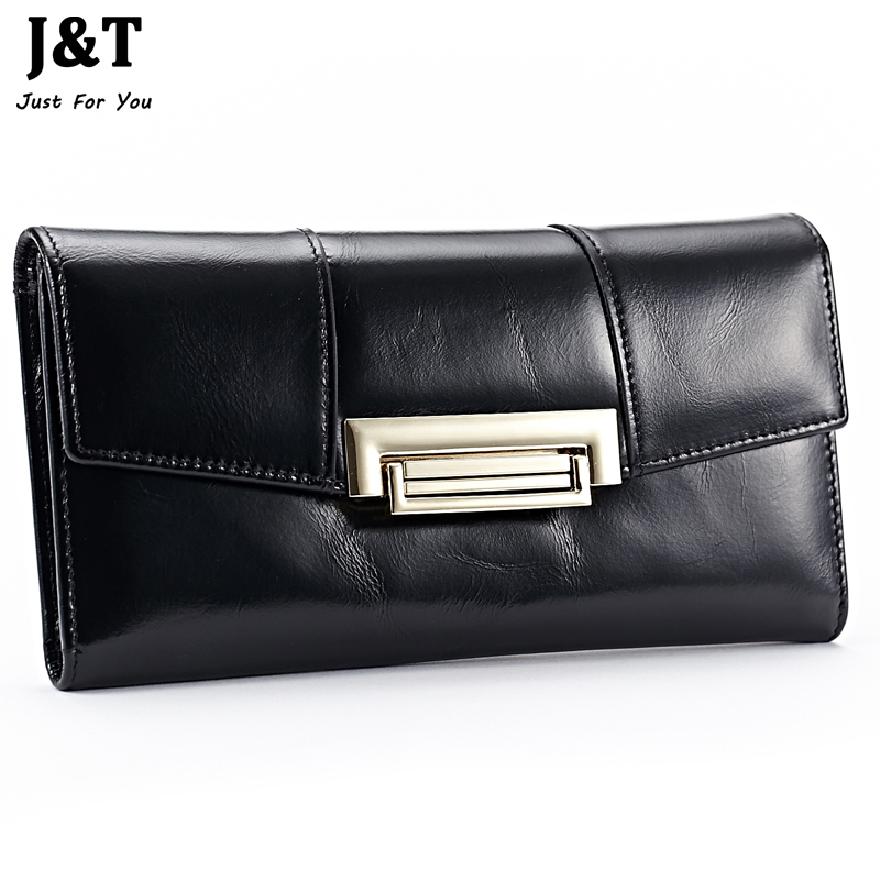 New Arrival 2016 First Layer Of Cowhide Genuine Leather Oil Wax 3 Fold Wallets Clutch Vintage Fashion Ladies Purse Female Famous(China (Mainland))
