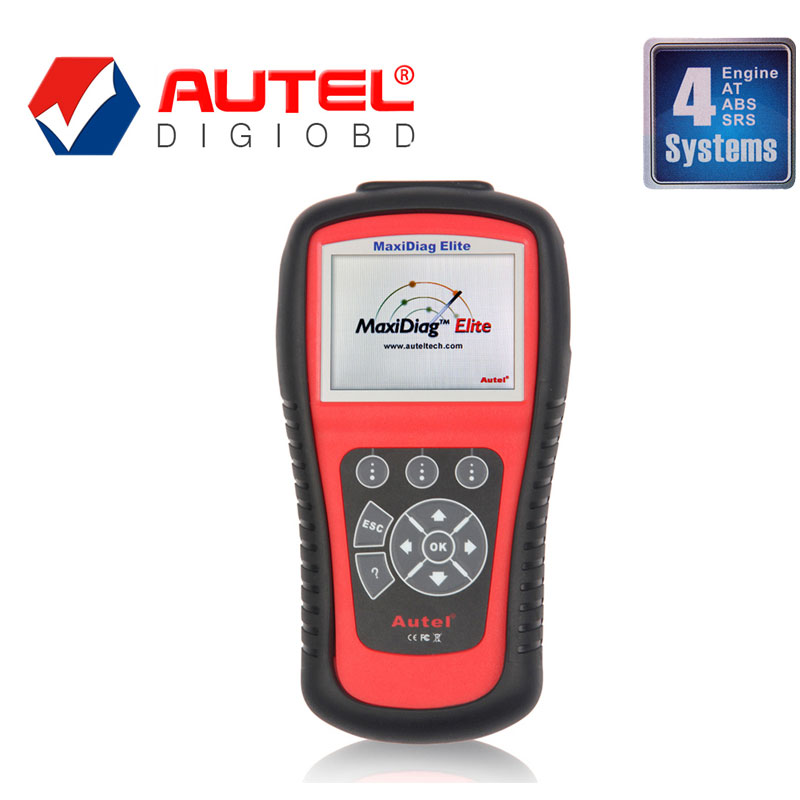 Autel MaxiDiag Elite MD802 For 4 System With Data Stream Model + Engine + Transmission + ABS + Airbag Code Scanner Online Update(China (Mainland))