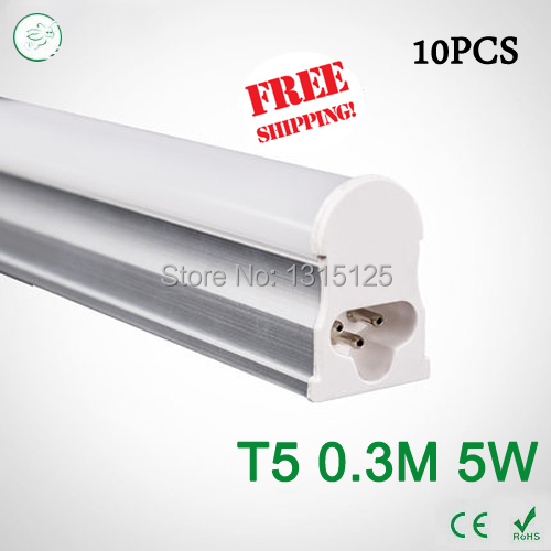 10pcs T5 5W Tubes Led 300mm SMD 2835 Super Brightness Led Bulbs lights Fluorescent Tubes AC100~265V Constant Current <br><br>Aliexpress