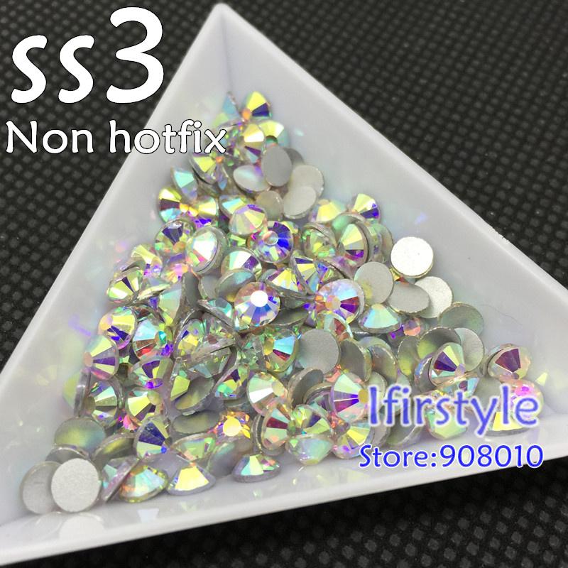 Гаджет  Nail Art Rhinestone SS3 (1.3-1.5mm) New Shiny Crystal AB color flatback non hotfix rhinestone DIY nail art crystals None Красота и здоровье