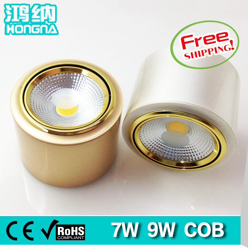 Free Shipping New Style 7W COB Surface Mounted LED Downlights, Epistar Chip , Gold/Silver Finishing Color, CE &amp; RoHS <br><br>Aliexpress