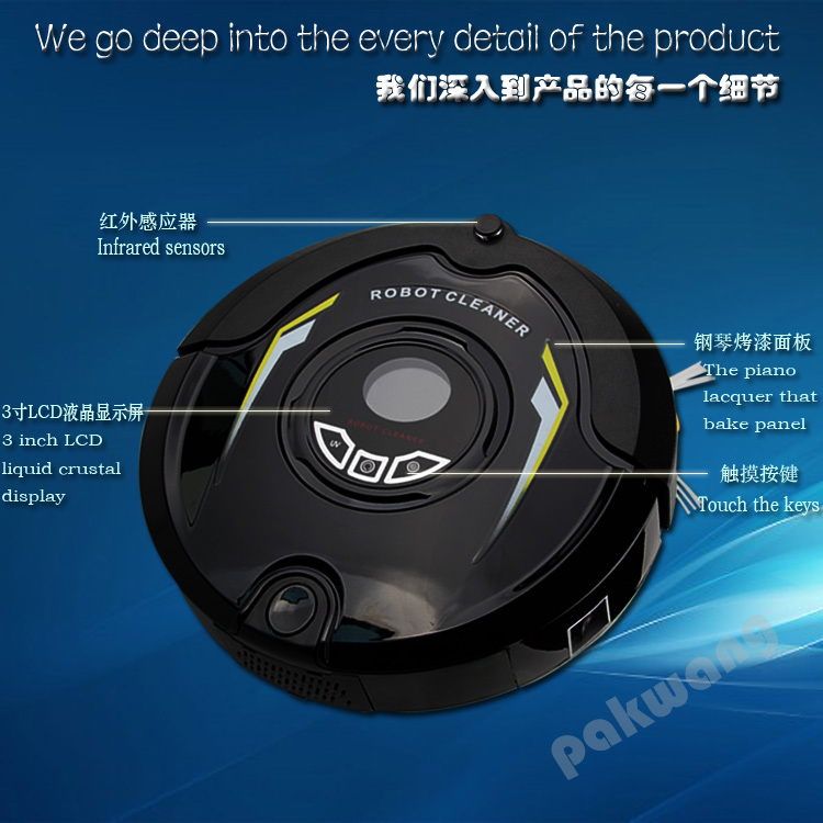 Most Advanced Robot Wet And Dry Vacuum Cleaner ,Multifunction (Sweep,Vacuum,Mop,Sterilize),ozone appliance(China (Mainland))