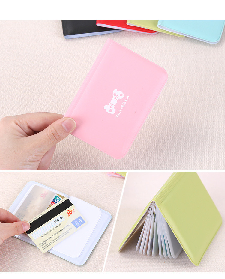 2017 Lovely Small Package Simple Ultra-Thin Card Korea Women's Bank Credit Card Bus Card Bag Clip 667(China (Mainland))