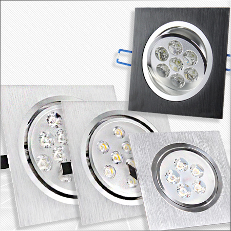High luxury 7W LED Spotlights Square Ceiling Spot Recessed Grille Lamp for Living Room TV Wall Cabinet spot lighting AC 85-260V(China (Mainland))