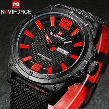 NAVIFORCE watches men military Sports Quartz watches luxury brand fashion casual auto date week 3ATM waterproof nylon watches(China (Mainland))