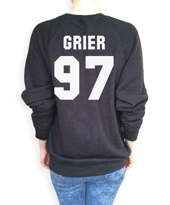 Grier 97 Funny Tumblr Crewneck Sweatshirts Women Men Unisex Harajuku Black White Grey Sport Tops Outfits Sweats Hoodies Jumper(China (Mainland))