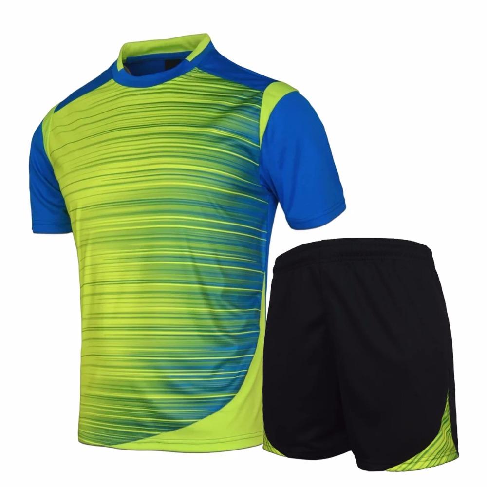 2016 boys mens football jerseys breathable soccer jerseys M-3XL painless custom football jersey shirts sports wear for teens kit(China (Mainland))