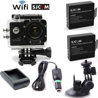 Free Shipping!SJCAM SJ4000 Wifi Sports Helmet Camera DVR+Free Battery+Home/Car Charger+Bracket