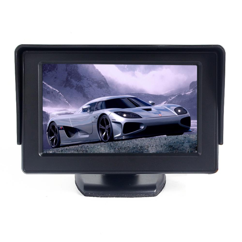 """4.3"""" TFT LCD Car Rearview Backup Color Monitor Screen Reverse Camera Kit DVD VCR(China (Mainland))"""