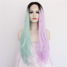 Buy BeautyTown Half Black Half White Color Hand Tied Heat Resistant Hair Cosplay Masquerade Party Synthetic Lace Front Wig Women for $42.32 in AliExpress store