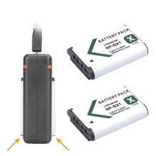 Buy 2x NP-BX1 NP BX1 Batteries AKKU + USB Dual Charger Sony HDR-AS200v AS20 AS15 AS100V DSC-RX100 X1000V WX350 RX100 RX1 RX100ii for $19.99 in AliExpress store