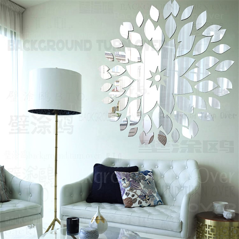 Creative diy acrylic decorative wall mirror surface for Decorative mirrors for less